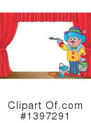 Royalty-Free (RF) Clown Clipart Illustration #1397291