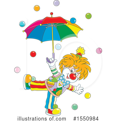 Clown Clipart #1550984 by Alex Bannykh