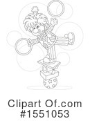 Clown Clipart #1551053 by Alex Bannykh