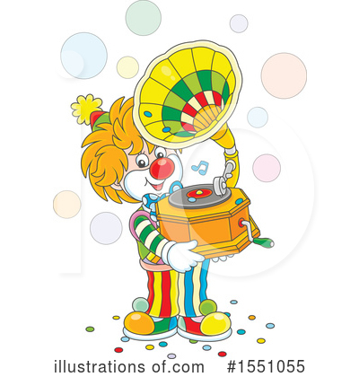 Clown Clipart #1551055 by Alex Bannykh