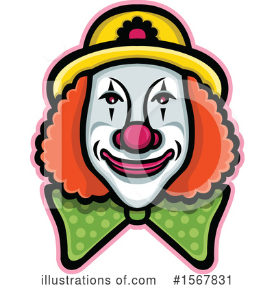 Royalty-Free (RF) Clown Clipart Illustration by patrimonio - Stock Sample #1567831