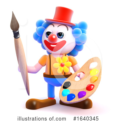 Clown Clipart #1640345 by Steve Young