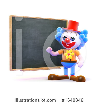 Clown Clipart #1640346 by Steve Young