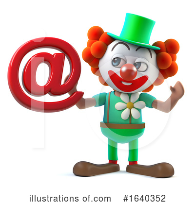 Clown Clipart #1640352 by Steve Young