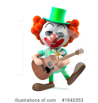 Clown Clipart #1640353 by Steve Young