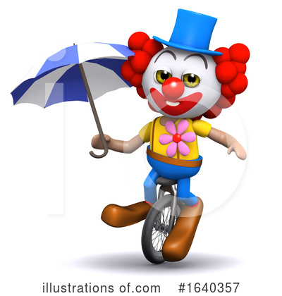 Clown Clipart #1640357 by Steve Young