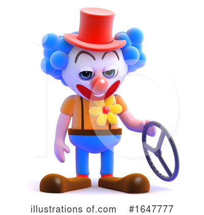Clown Clipart #1647777 by Steve Young