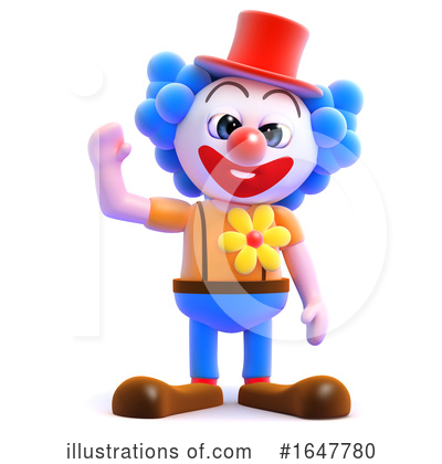 Clown Clipart #1647780 by Steve Young