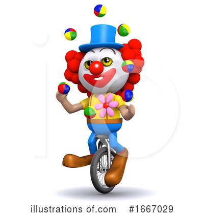 Royalty-Free (RF) Clown Clipart Illustration by Steve Young - Stock Sample #1667029