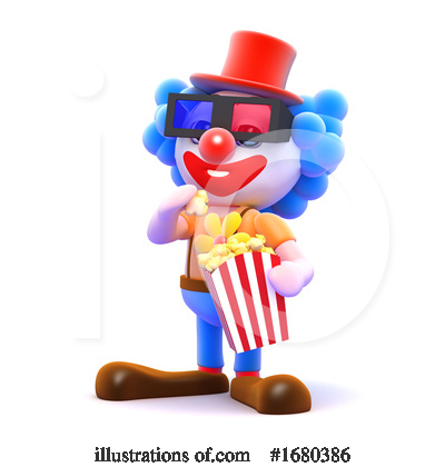 Royalty-Free (RF) Clown Clipart Illustration by Steve Young - Stock Sample #1680386