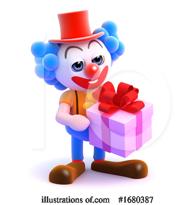Royalty-Free (RF) Clown Clipart Illustration by Steve Young - Stock Sample #1680387