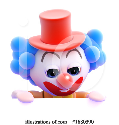 Royalty-Free (RF) Clown Clipart Illustration by Steve Young - Stock Sample #1680390