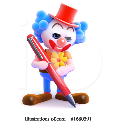 Royalty-Free (RF) Clown Clipart Illustration by Steve Young - Stock Sample #1680391