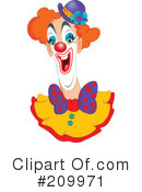 Royalty-Free (RF) Clown Clipart Illustration #209971