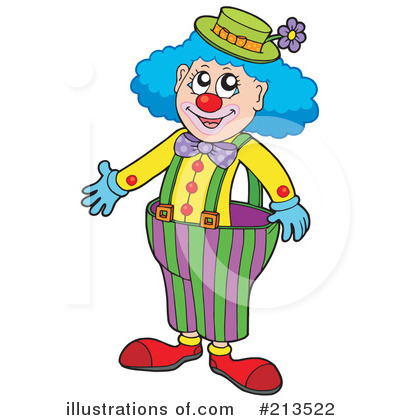 Clown Clipart #213522 - Illustration by visekart