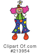 Royalty-Free (RF) Clown Clipart Illustration #213954