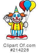 Royalty-Free (RF) Clown Clipart Illustration #214228