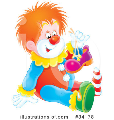Clown Clipart #34178 by Alex Bannykh