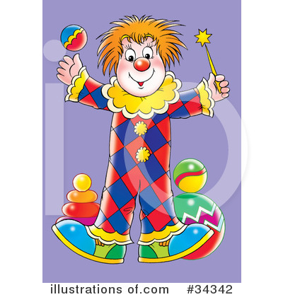 Clown Clipart #34342 by Alex Bannykh