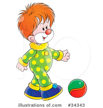 Clown Clipart #34343 by Alex Bannykh