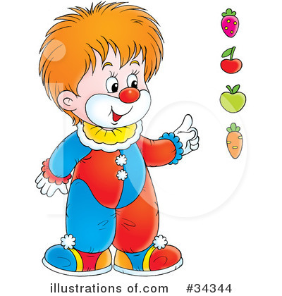 Clown Clipart #34344 by Alex Bannykh