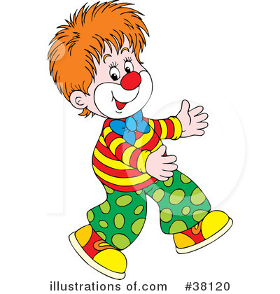 Clown Clipart #38120 by Alex Bannykh