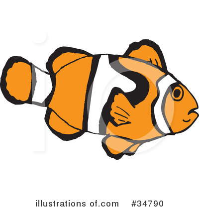 Clownfish Clipart #34790 by Dennis Holmes Designs