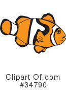 Clown Fish Clipart #34790 by Dennis Holmes Designs