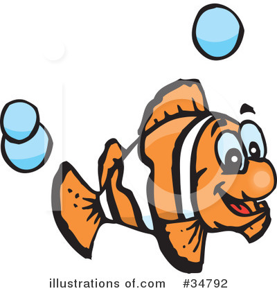 Clownfish Clipart #34792 by Dennis Holmes Designs