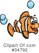 Clown Fish Clipart #34792 by Dennis Holmes Designs