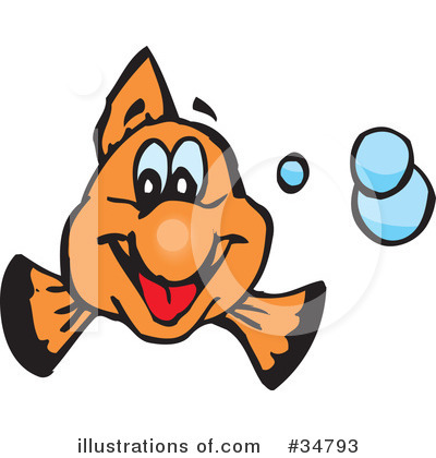 Clownfish Clipart #34793 by Dennis Holmes Designs