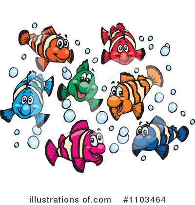 Fish Clipart #1103464 by Dennis Holmes Designs