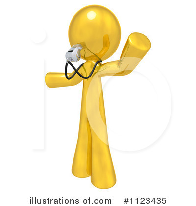 Gold Man Clipart #1123435 by Leo Blanchette
