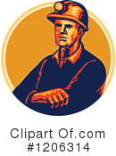 Coal Miner Clipart #1206314 by patrimonio