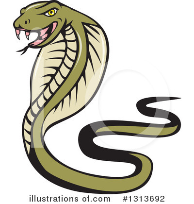 Royalty-Free (RF) Cobra Clipart Illustration by patrimonio - Stock Sample #1313692
