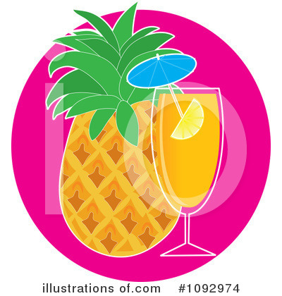 Pineapple Clipart #1092974 by Maria Bell