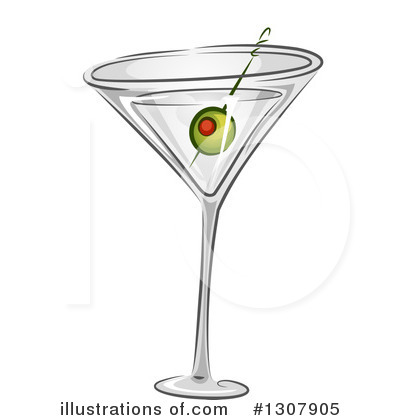 Martini Clipart #1307905 by BNP Design Studio