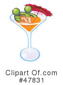 Cocktail Clipart #47831 by Leo Blanchette