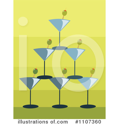 Martini Clipart #1107360 by Amanda Kate