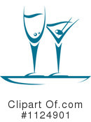 Royalty-Free (RF) Cocktails Clipart Illustration #1124901