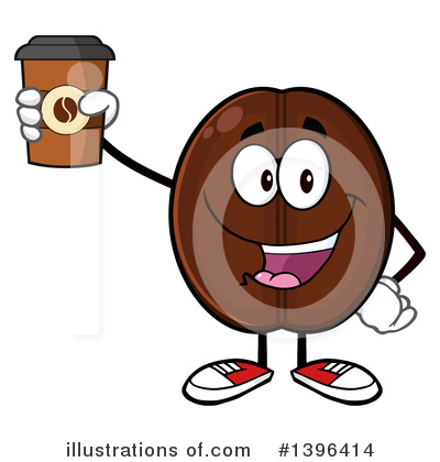 Coffee Bean Clipart #1396414 by Hit Toon