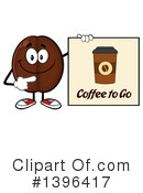 Coffee Bean Character Clipart #1396417