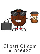 Coffee Bean Character Clipart #1396427