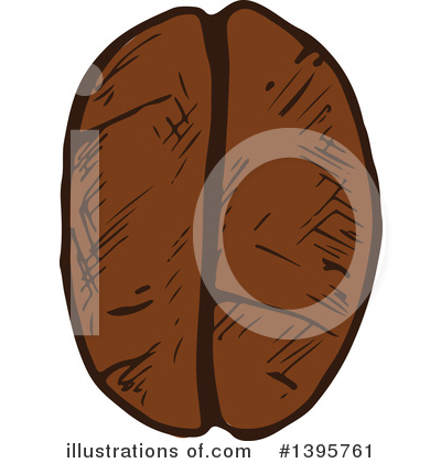 Coffee Beans Clipart #1395761 by Vector Tradition SM