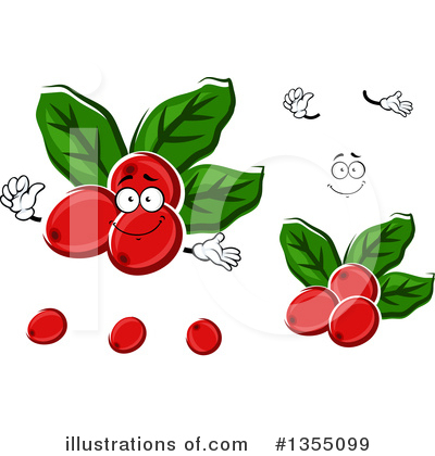 Coffee Berry Clipart #1355099 by Vector Tradition SM