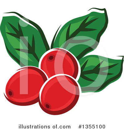 Royalty-Free (RF) Coffee Berry Clipart Illustration by Vector Tradition SM - Stock Sample #1355100