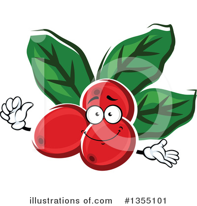 Coffee Berry Clipart #1355101 by Vector Tradition SM
