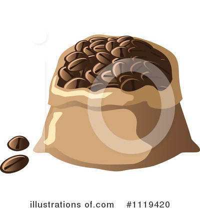 Coffee Bean Clipart #1119420 by Leo Blanchette