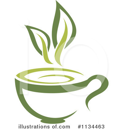 Green Tea Clipart #1134463 by Vector Tradition SM