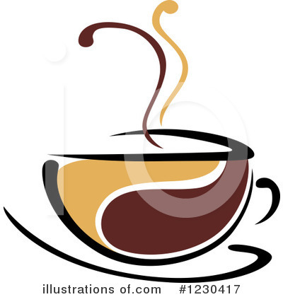Coffee Clipart #1230417 by Vector Tradition SM